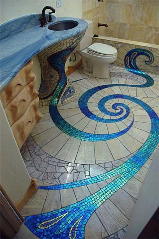 30 mosaic design ideas for Mosaic tile designs for bathrooms