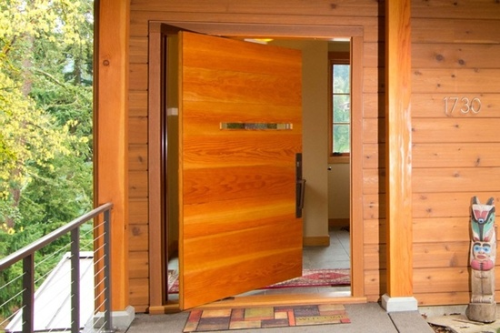 The Front Door Design Below Is A Great Piece Of Architectural Work