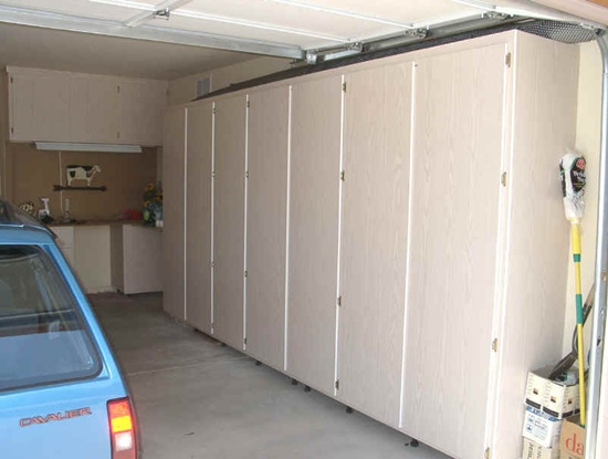 Awesome Building Garage Shelves Wooden Style Design Ideas