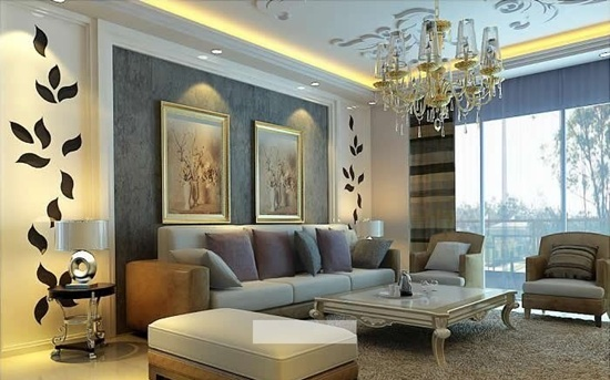 25 innovative ways in which you can paint your living room for Colour shade for living room