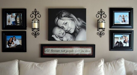 wall photo collage ideas (10)