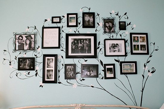 wall photo collage ideas (29)