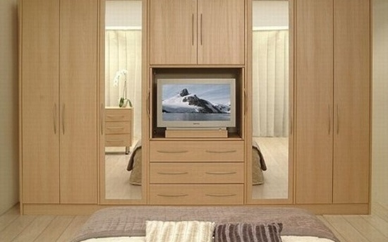 30 modern wall wardrobe almirah designs for Bedroom cupboard designs small space