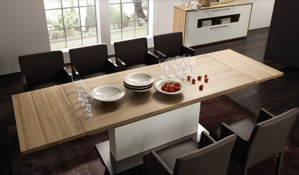 This Creative Design Brings A Whole New Dimension To The Dining Experience With Unique Twist On Time Honored Extension Table Simple Looking Slab