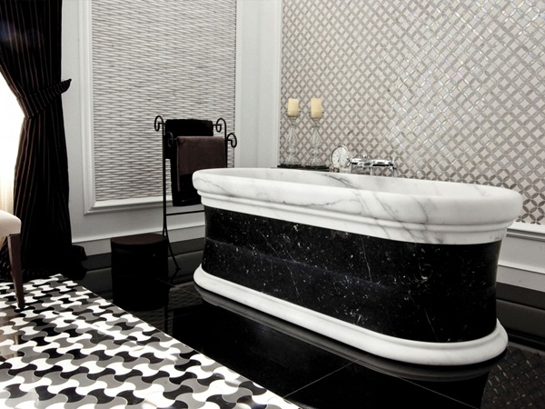 Bold beautiful black and white bathroom design ideas for Bathroom design ideas black and white