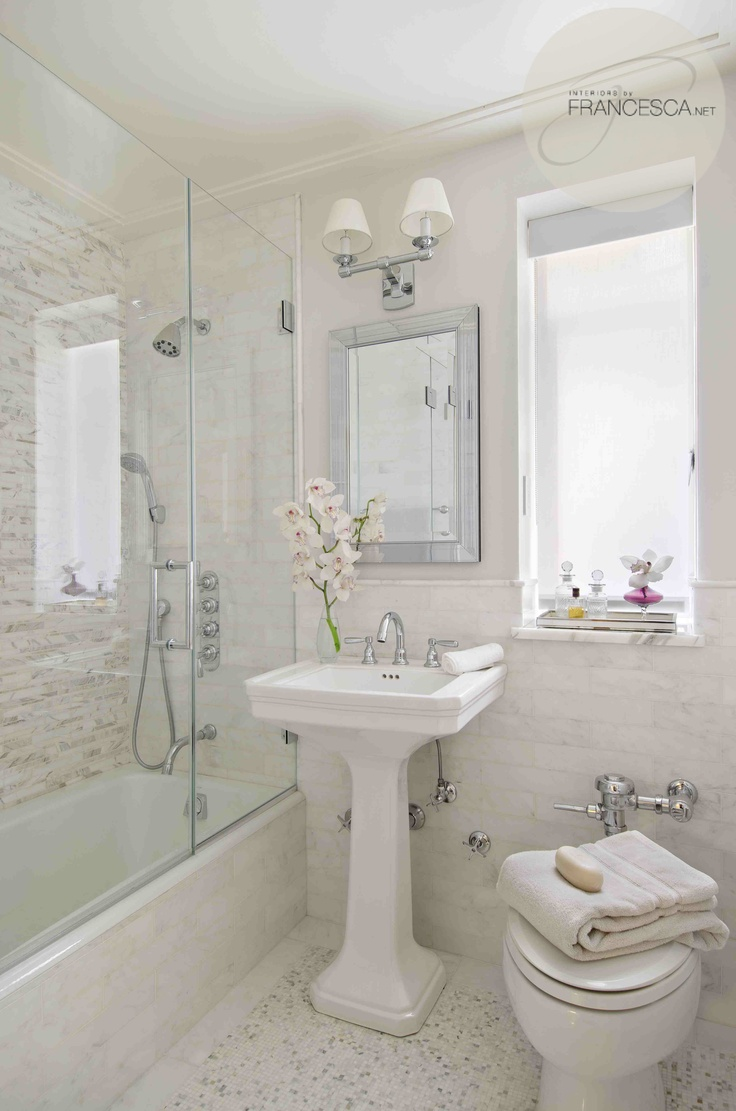 17 delightful small bathroom design ideas for Tiny bath ideas