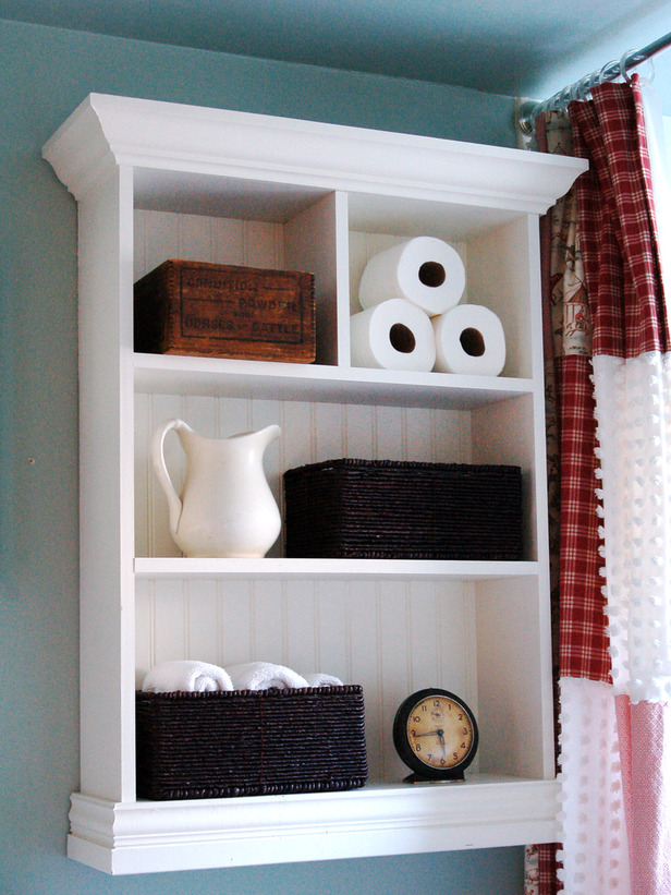 Shelving bathroom storage