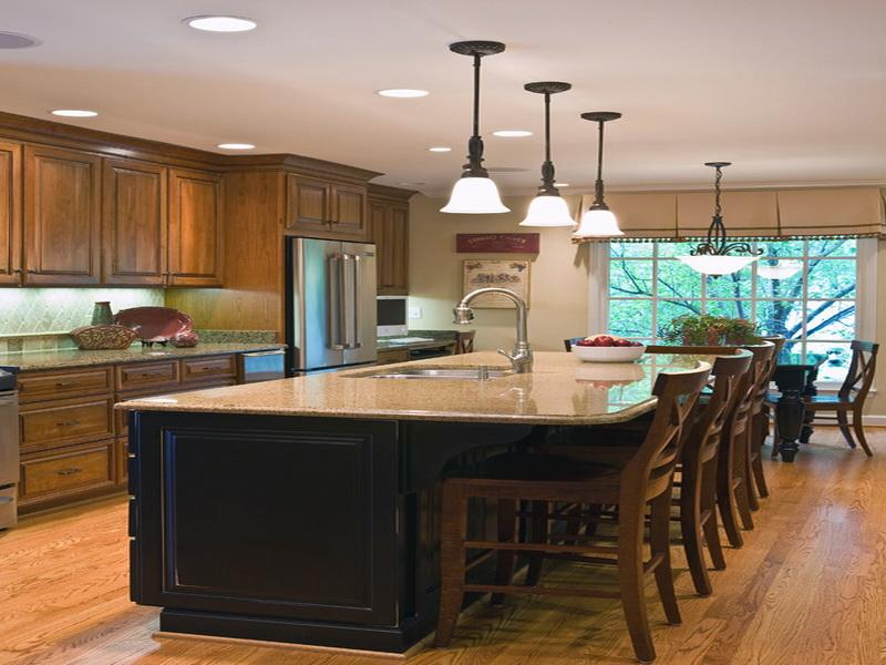 Kitchen Island Design Ideas ~ Five kitchen island with seating design ideas on a budget