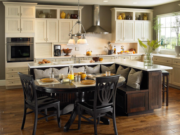 Five Kitchen Island with Seating Design Ideas On a Budget!