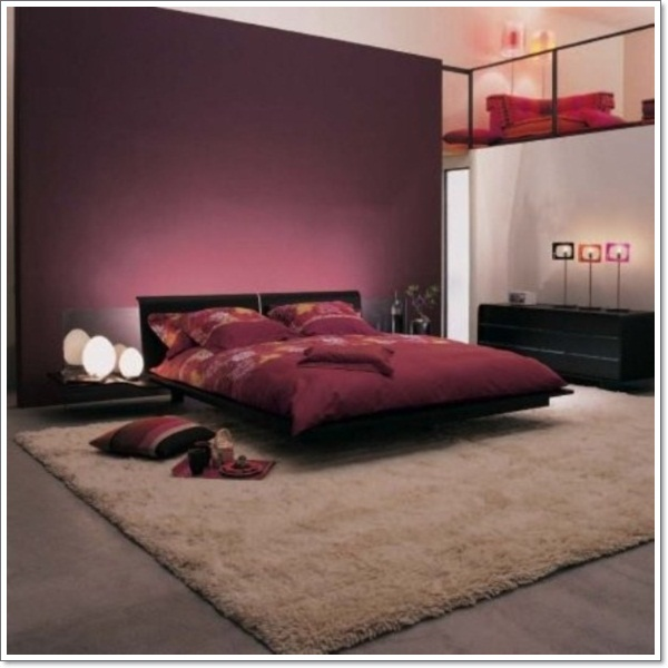 Relaxing Bedroom Paint Colors: 35 Inspirational Purple Bedroom Design Ideas
