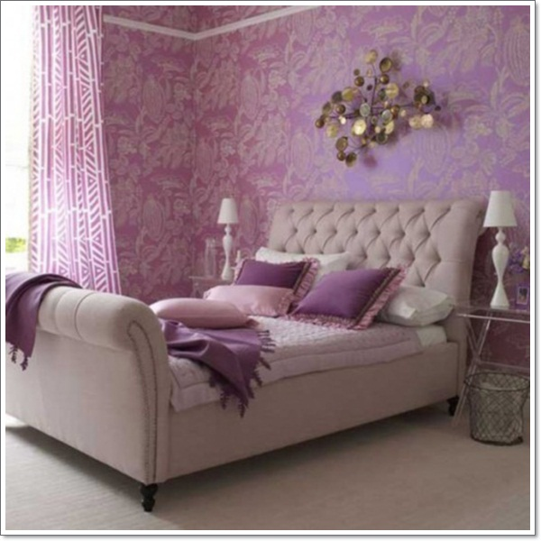 35 inspirational purple bedroom design ideas for Exotic bedroom decor