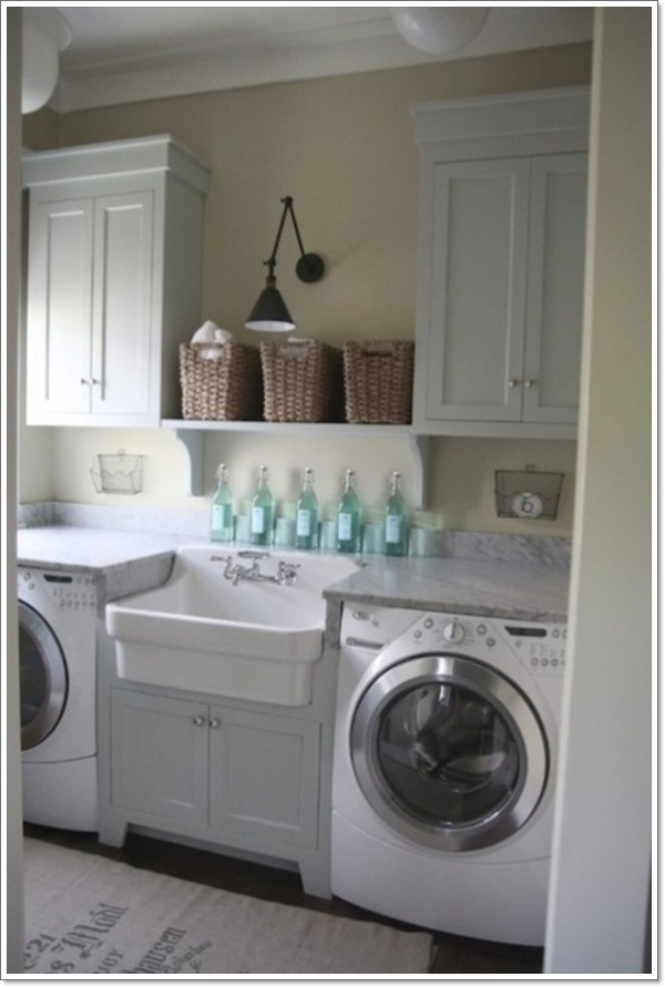 32 laundry room d cor ideas for Decorate a laundry room