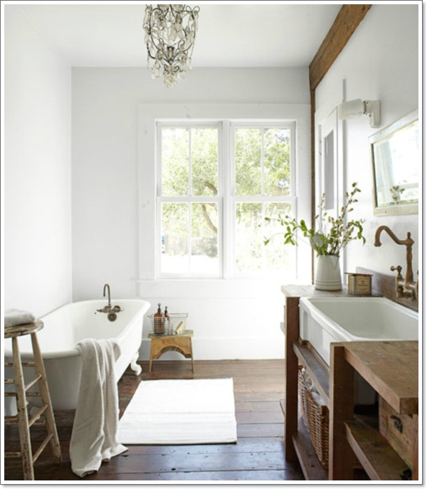 Modern French Bathroom: 42 Ideas For The Perfect Rustic Bathroom Design