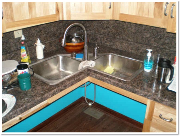 Corner Sink Kitchen Design Ideas ~ Creative corner kitchen sink design ideas