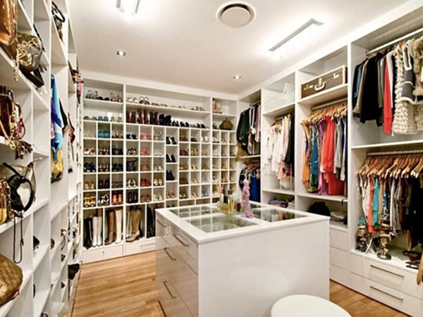 The Walk In Closet Looks Very Spacious And Elegant. The Colour Of The  Walls, Ceiling Board And Floor Looks Perfectly Great With Sufficient Space  To Hang ...