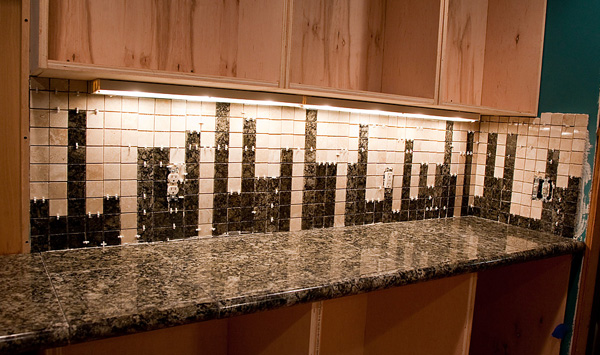 backsplash into an instant work of art like this chic cityscape