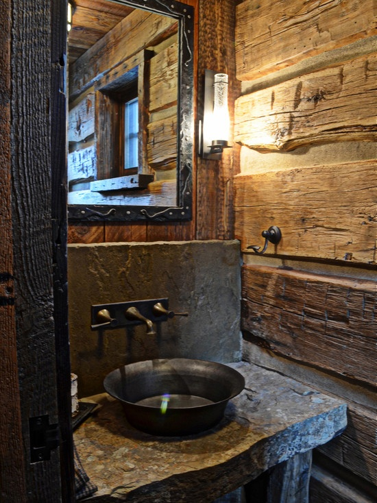 20 practical pretty powder room decorating ideas Rustic bathroom decor ideas