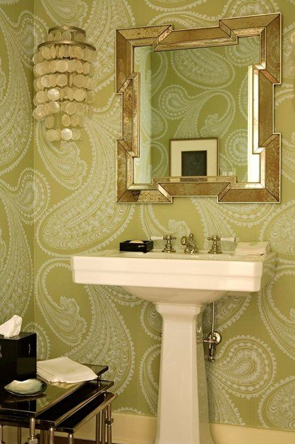 powder-room-decor-capiz-shell-chandelier-pedestal-sink-powder-room-nesting-tables-paisley-bathroom