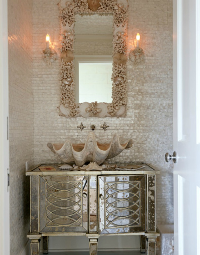 Fantastic Double Vanity With Two Curvy Mirrors Elegant Master Bath Remodel