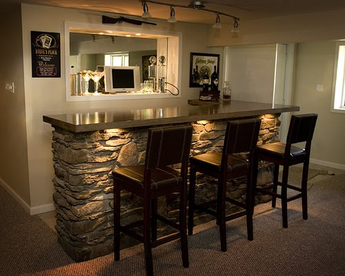 25 amazing basement remodeling ideas - Cool home bar ideas ...