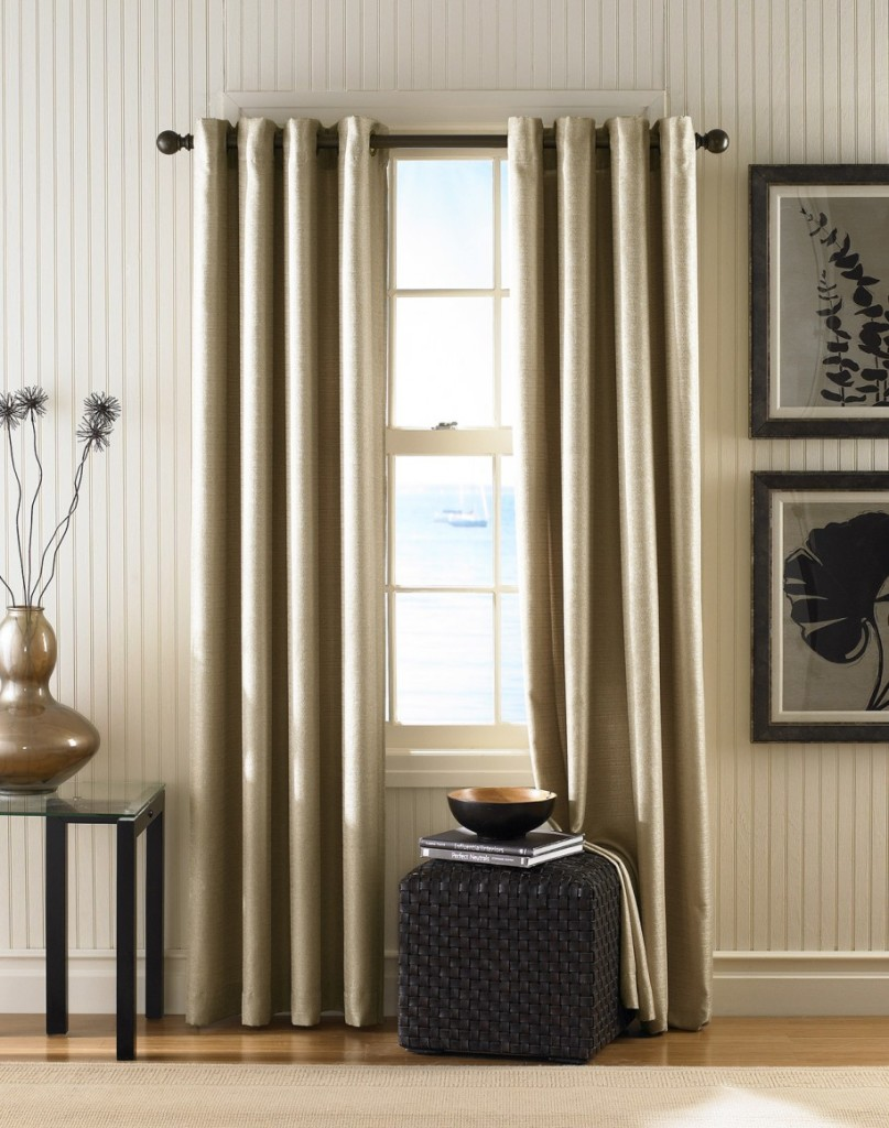 How to hang curtains drapes with picture ideas for Curtains in living room