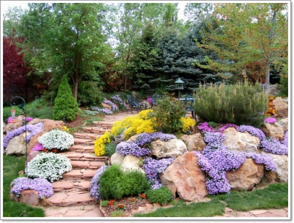 30 beautiful rock garden design ideas for Garden design ideas rockery