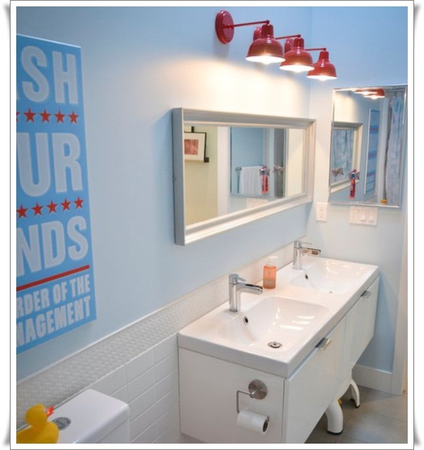 sleek modren kids bathroom idea