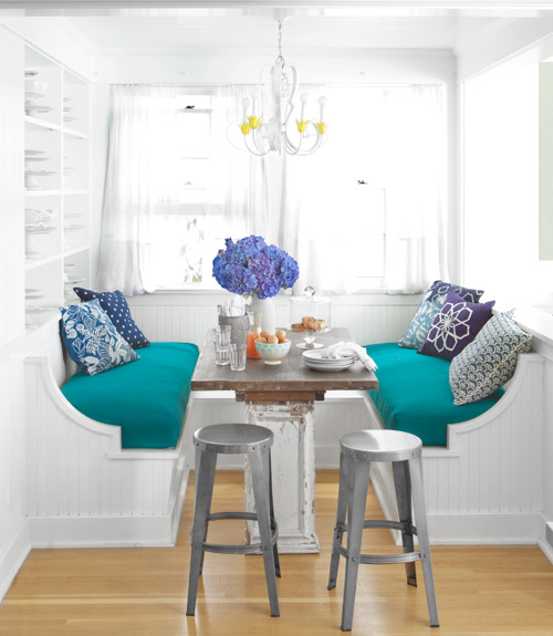 Breakfast Nook with Two Benches