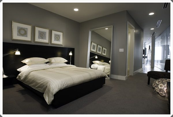 40 grey bedroom ideas basic not boring - Green and grey room ideas ...